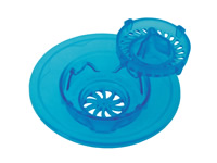 sink strainer and stopper blue
