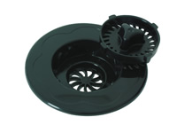 sink strainer and stopper black